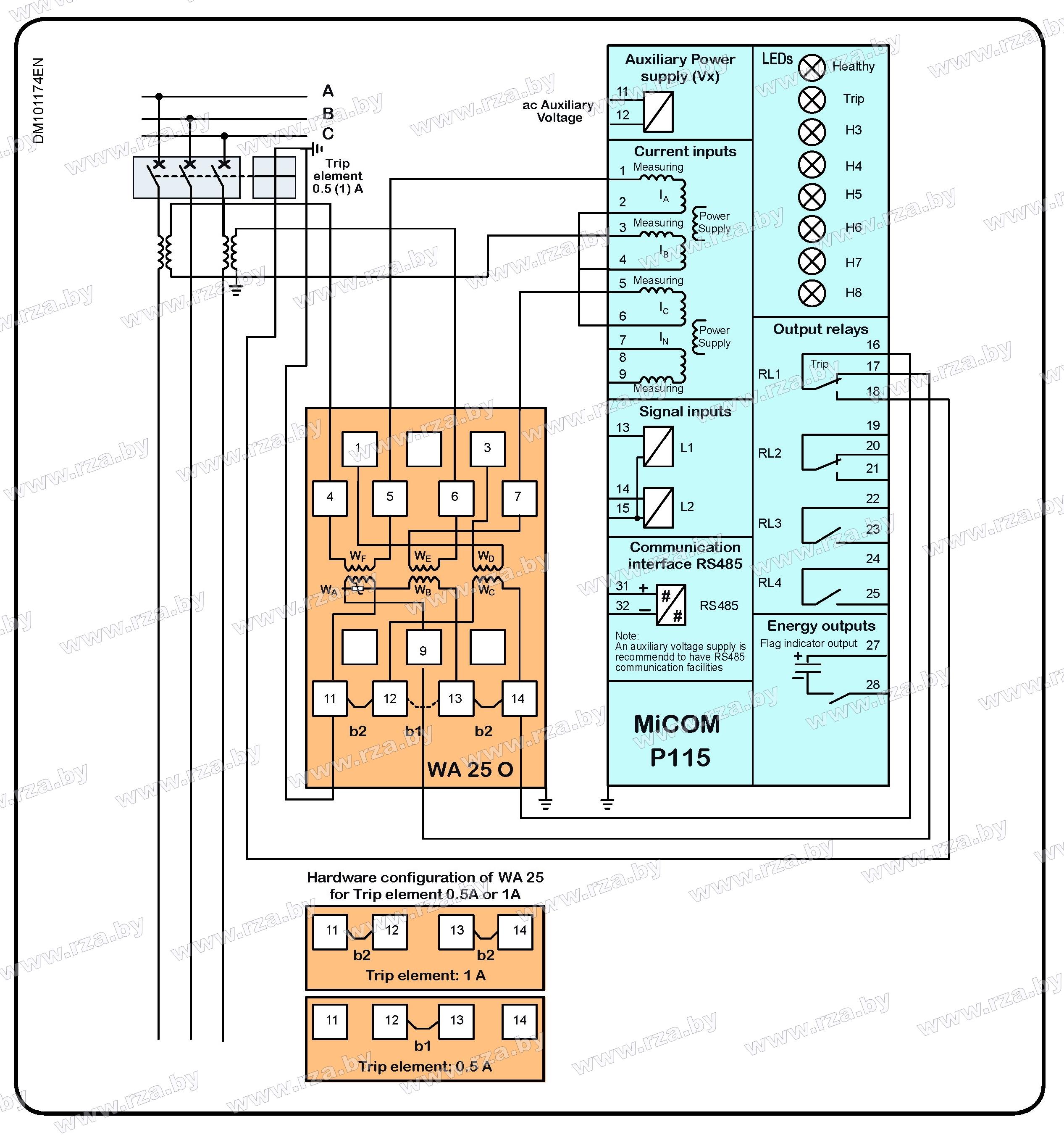 Micom схема подключения